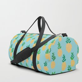 Gold Pineapple Pattern Duffle Bag