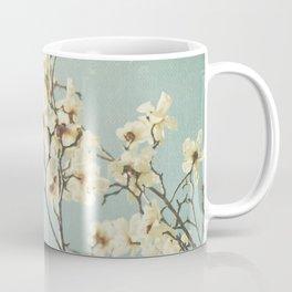 Magnolia blossoms. Mint Coffee Mug