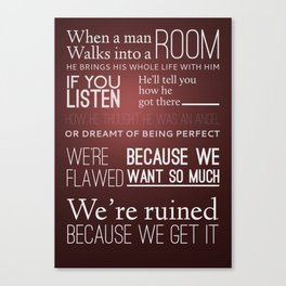 Mad Men; Don Canvas Print