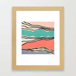 Modern irregular Stripes 10 Framed Art Print