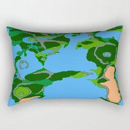 Final Fantasy II Japanese Overworld Rectangular Pillow