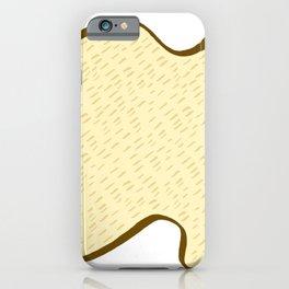 Tiger skin pattern light beige color tone illustration iPhone Case