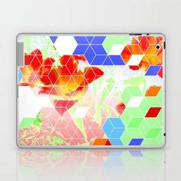 Pop Floral Cube Pattern 2  #fashion #pattern #lifestyle Laptop & iPad Skin