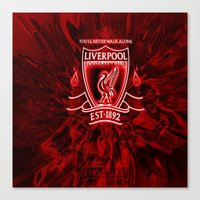 liverpool Canvas Prints featuring LIVERPOOL LOVER by Acus