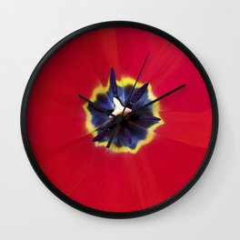 Seeing red (at tulip time) Wall Clock