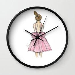 Little fashionista - Pink Dress Wall Clock