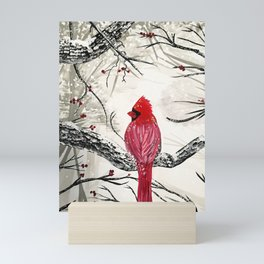 Red Robins Winter Mini Art Print