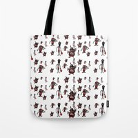 pirates Tote Bags featuring Pirates by Joe Pugilist Design