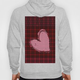 Heart on Flannel Hoody