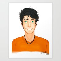 percy jackson Art Prints featuring Percy Jackson by Shaungart