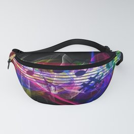 Colorful musical notes and scales artwork Fanny Pack