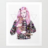 kris tate Art Prints featuring EMBRACE by Kris Tate and Ola Liola  by Ola Liola