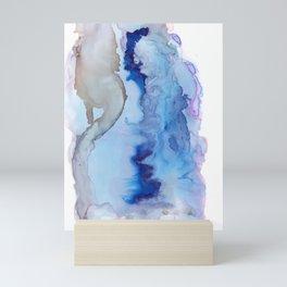 Blue Ice Arctic Abstract Mini Art Print