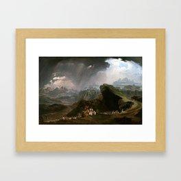 John Martin Joshua Commanding the Sun to Stand Still upon Gibeon Framed Art Print