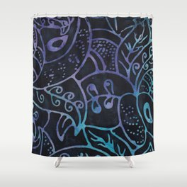 Blue Batik 12 Shower Curtain