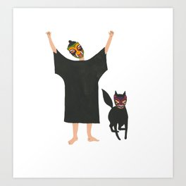 October: Fia and Wild Thing Art Print