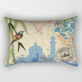 India Taj Mahal Bamboo Agra Rectangular Pillow
