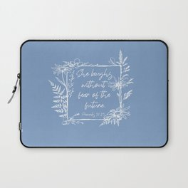She Laughs Without Fear Wildflower Frame Bible Verse Laptop Sleeve