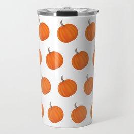 Pumpkin Polka Dots Travel Mug