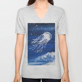 Jellyfish Dreaming Unisex V-Neck