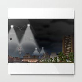 Elm City Green Metal Print