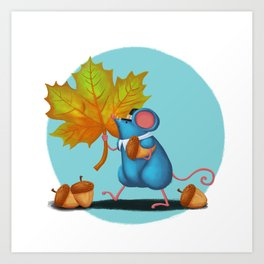 Mr. Bluemouse Thanksgiving Art Print