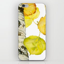 Falling Aspen Leaves iPhone Skin