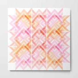 Pink/Orange Pattern Metal Print