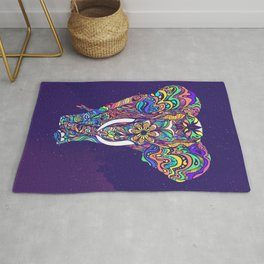 Not a circus elephant Rug