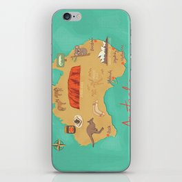 Australia Map iPhone Skin