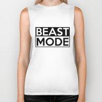 depeche mode Biker Tanks featuring BEAST MODE by Adel