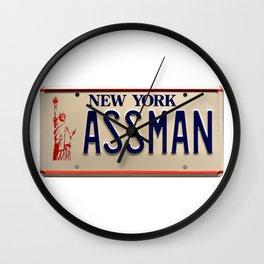 Assman! Cosmo Kramer Tribute Plate Wall Clock