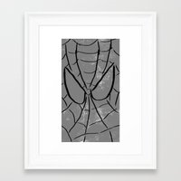 spider man Framed Art Prints featuring Spider-Man by Isaak_Rodriguez