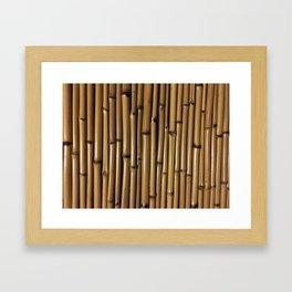 Bamboo Aesthetic Framed Art Print