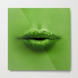 Mint Lips Metal Print