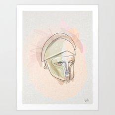 One line Theseus Art Print