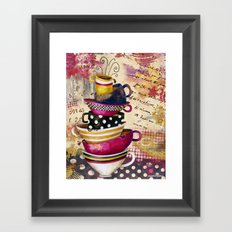 Coffee Cups Divine Candy Colored Edition Framed Art Print
