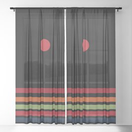 autumn ray Sheer Curtain