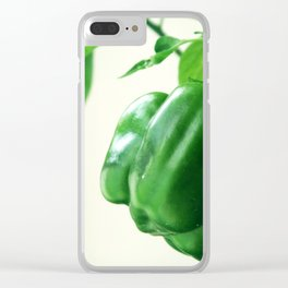Peppers food green Clear iPhone Case