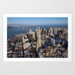 Aerial View of Downtown San Francisco Art Print
