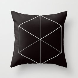 D6, Black Throw Pillow