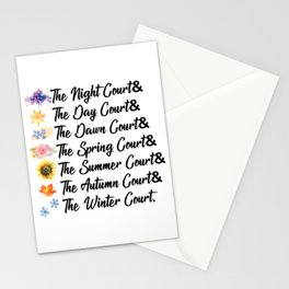ACOTAR Courts Stationery Cards