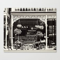 Old Coffee shop Canvas Print