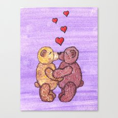 Bears in love Canvas Print