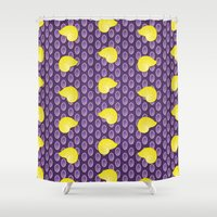 shell Shower Curtains featuring shell by MelleNora