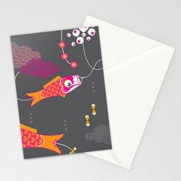Koi No Bori in the Night Sky Stationery Cards