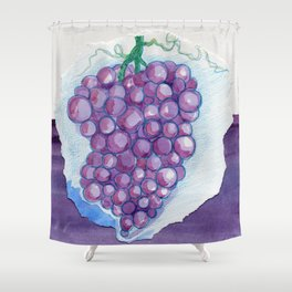 Grape Collage Shower Curtain