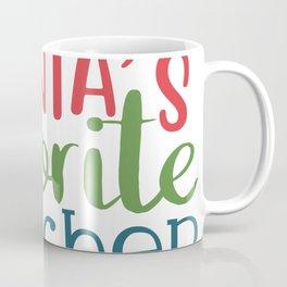 Santa's Favorite Teacher Coffee Mug