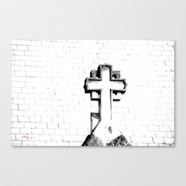 CROSS - Bl & Wh Canvas Print