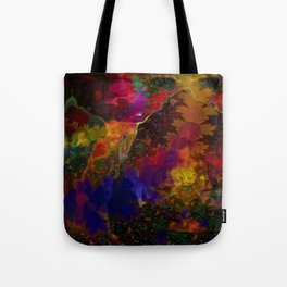 Stereo Trippin' Psychedelic Fractal Tote Bag